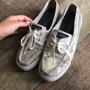 Sperry's with Silver Sequins